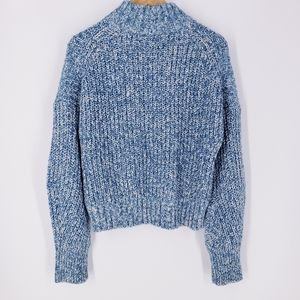 J. Crew Blue White Chunky Knit Donegal Swe…